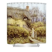 Cottage Near Freshwater  Shower Curtain