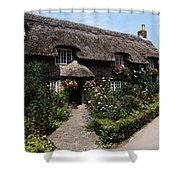 Cottage With Flowers Shower Curtain