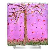 Cotton Candy Sky Wishing Tree Shower Curtain