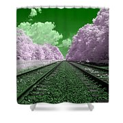 Cotton Candy Trees Shower Curtain