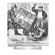 Cotton Loan Cartoon, 1865 Shower Curtain