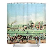 Cotton Plantation On The Mississippi Shower Curtain by Photo Researchers