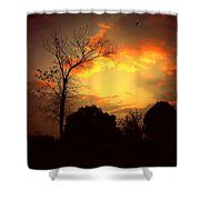 Cottonwood Sunset Shower Curtain