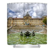 Council House And Victoria Square - Birmingham Shower Curtain