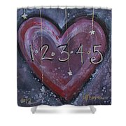 Counting Heart Shower Curtain
