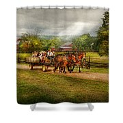 Country - Horse - Life's Pleasures Shower Curtain