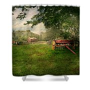 Country - The Crops Almost Ready  Shower Curtain