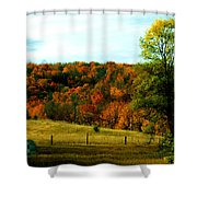 Country Camping Shower Curtain