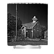Country Church Monochrome Shower Curtain