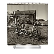 Country Classic Monochrome Shower Curtain