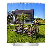 Country Classic Paint Filter Shower Curtain