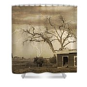 Country Horses Lightning Storm Ne Boulder County Co 76septx Shower Curtain