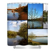 Country Parks Collage Shower Curtain