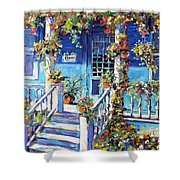 Country Porch And Flowers By Prankearts Shower Curtain