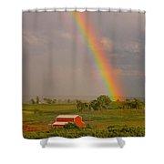 Country Rainbow Shower Curtain