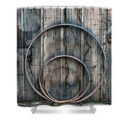 Country Rings Shower Curtain by Susan Candelario