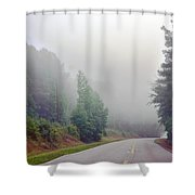 Country Road Fog Shower Curtain
