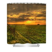 Country Roads Sunset Shower Curtain