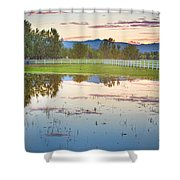 Country Sunset Reflections Shower Curtain