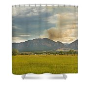 Country View Of The Flagstaff Fire Shower Curtain