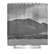 Country View Of The Flagstaff Fire Panorama Bw Shower Curtain