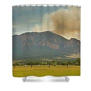Country View Of The Flagstaff Fire Panorama Shower Curtain