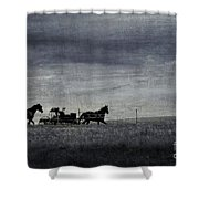 Country Wagon Shower Curtain by Perry Webster