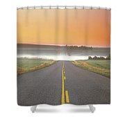 Countryside Road Shower Curtain