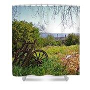 Countryside Wagon Shower Curtain