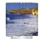 County Antrim, Ireland Seascape With Shower Curtain