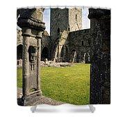 County Kilkenny, Ireland Jerpoint Abbey Shower Curtain