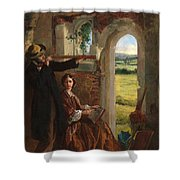 Couple Observing A Landscape Shower Curtain by English School