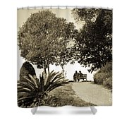 Couple On The Bench In Venice Shower Curtain by Madeline Ellis