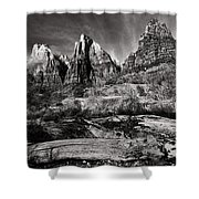 Court Of The Patriarchs - Bw Shower Curtain