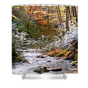 Courthouse River In The Fall Shower Curtain