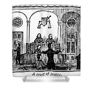 Courtroom, 1842 Shower Curtain