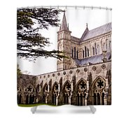 Courtyard Salisbury Cathedral - England Shower Curtain