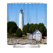 Cove Island Lighthouse Shower Curtain