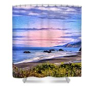 Cove On The Lost Coast Shower Curtain