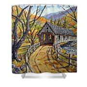 Covered Bridge 04 Shower Curtain