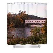 Covered Bridge At Dawn No. 1 Shower Curtain