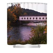 Covered Bridge At Dawn No. 2 Shower Curtain