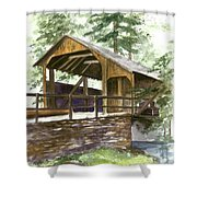 Covered Bridge At Knoebels  Shower Curtain