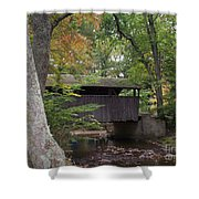 Covered Bridge By The Cottage  Shower Curtain