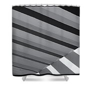 Covered B/w Shower Curtain
