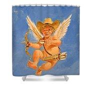 Cow Kid Cupid Shower Curtain