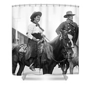 Cowboy And Cowgirl, C1908 Shower Curtain