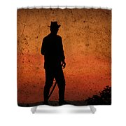 Cowboy At Sunset Shower Curtain