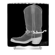 Cowboy Boot, X-ray Shower Curtain