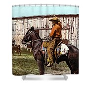 Cowboy, C1900 Shower Curtain